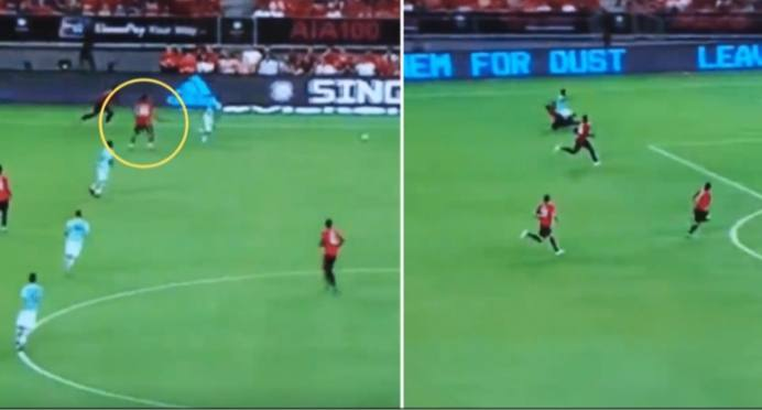 Wan-Bissaka Produces great Recovery Tackle During game  Man United Vs. Inter Milan