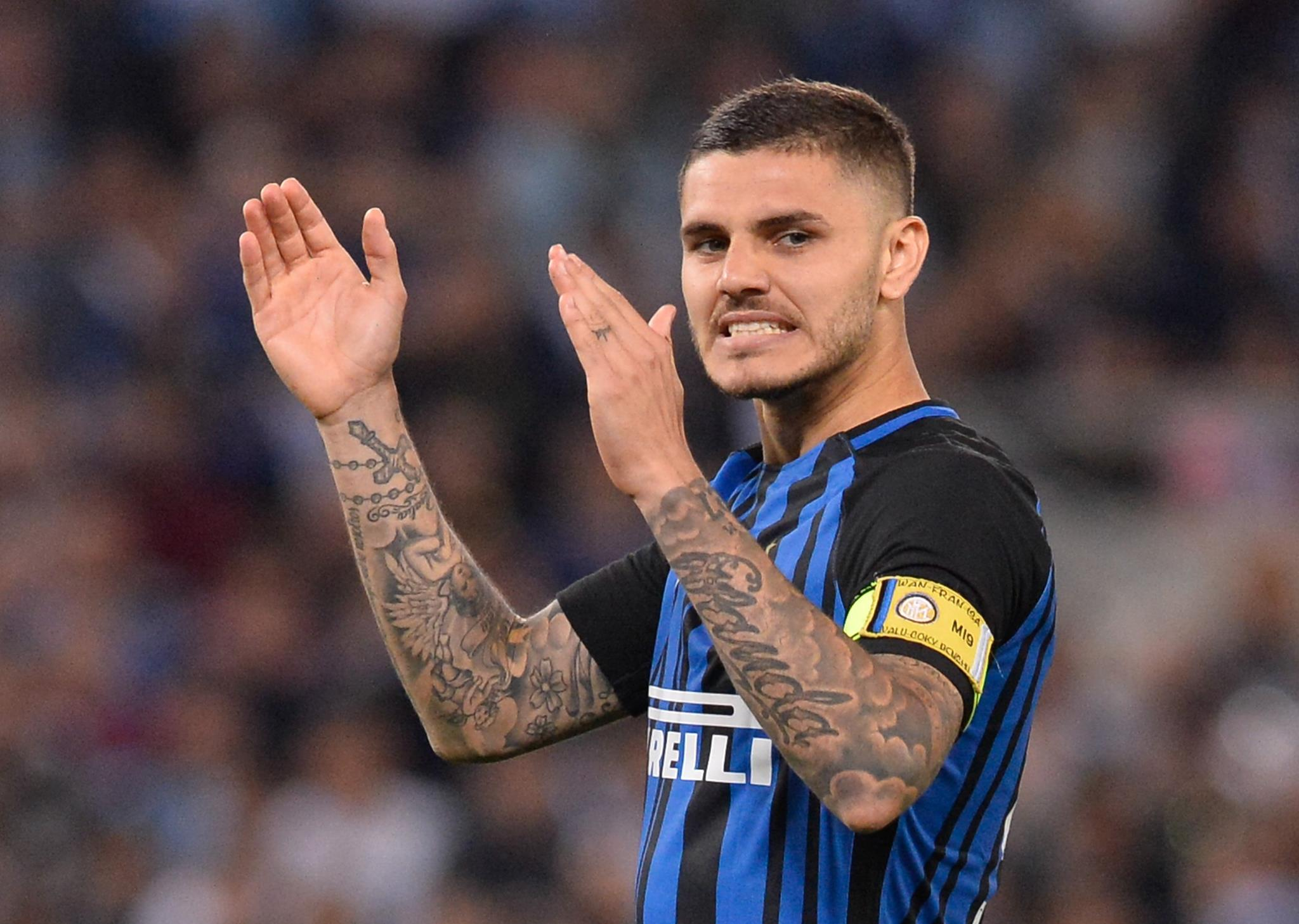 inflammation of the right knee for Mauro Icardi