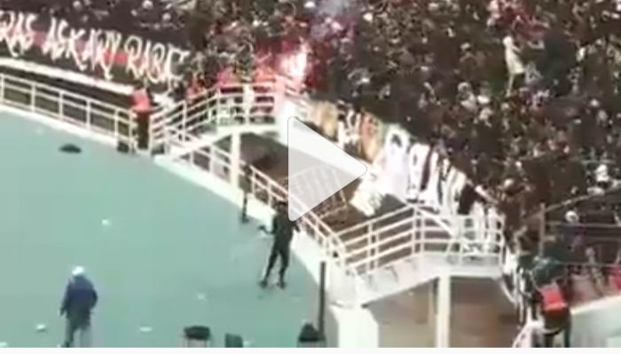 فيديو احداث الشغب التي وقعت بين جماهير الجيش والشرطة