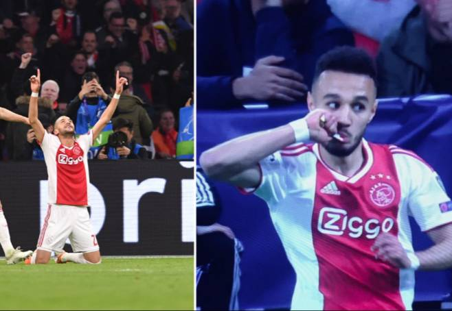 Ziyech and mazraoui eat ftour during game ajax Totenham