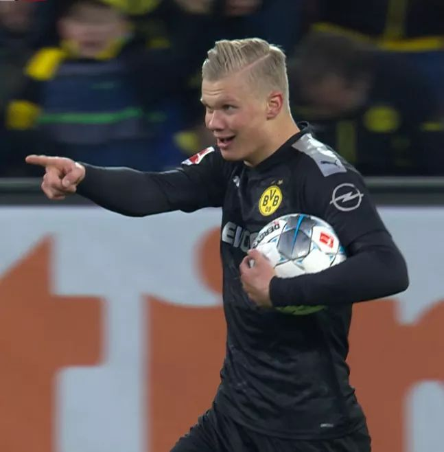Erling Haaland has taken just four minutes to score his first goal for  Dortmund