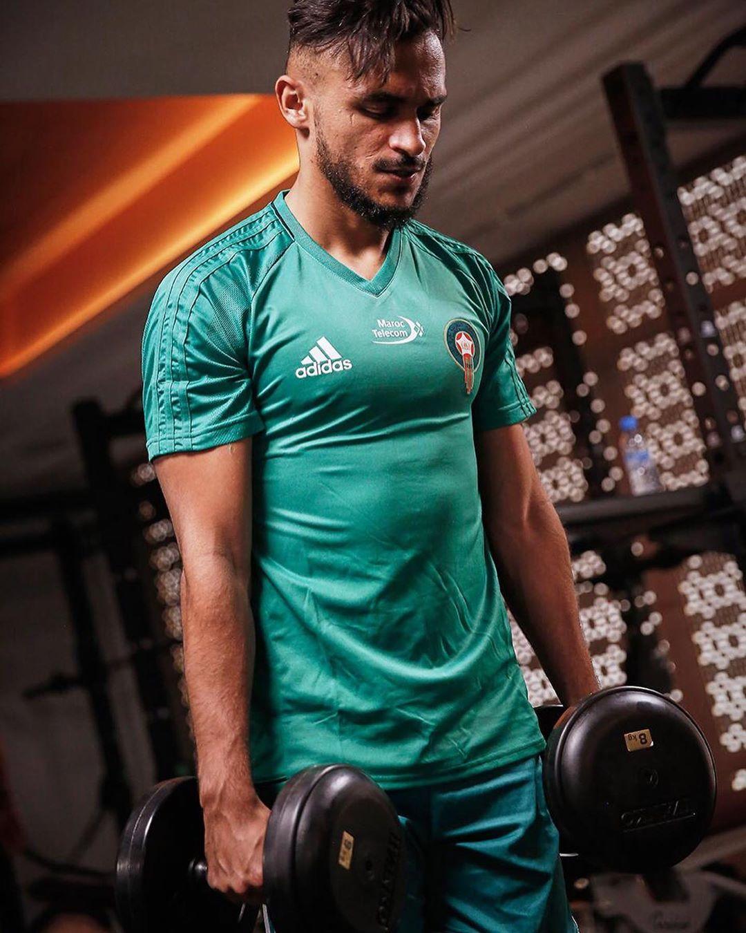 تدريبات للاعبي المنتخب المغربي في صالة بناء الاجسام