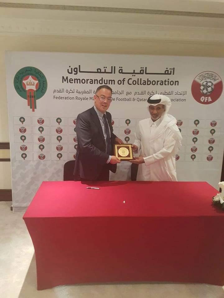 الجامعة الملكية المغربية لكرة القدم توقع اتفاقية شراكة مع الإتحاد القطري