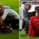 اصابة رونالدو مع منتخب البرتغال ضد صربيا
