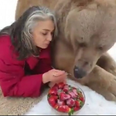 Thats amazing  It's a beautiful Bear with women