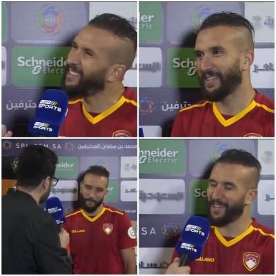 زكريا حدراف يخلق الحدث من جديد بتصريح بعد مباراة الاتحاد ضمك