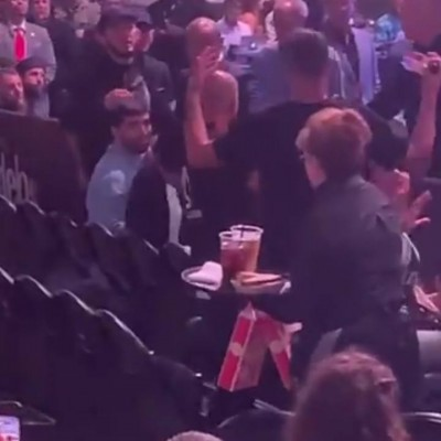 Diaz And Khabib  Clashed In A Cageside Altercation At UFC 239